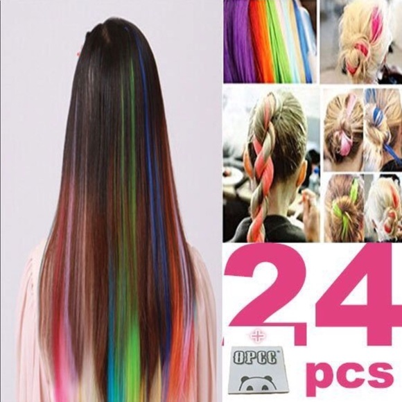 Accessories 25 Piece Multicolored Hair Extensions Poshmark